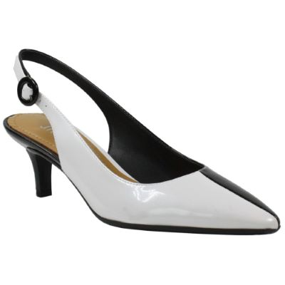 Front view of Aphena WHITE/BLACK PATENT