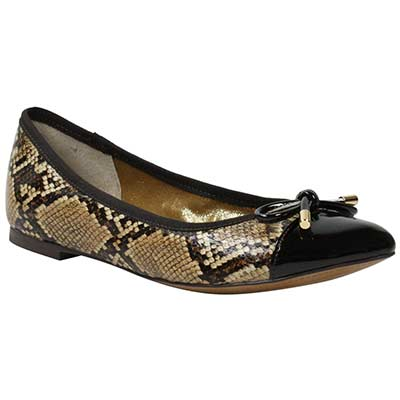 Front view of Charmyne Brown Snake Print