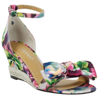 Front view of Dariann Gray Blue Pink Multi Floral