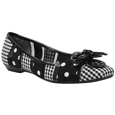 Front view of Edie Black White Gingham