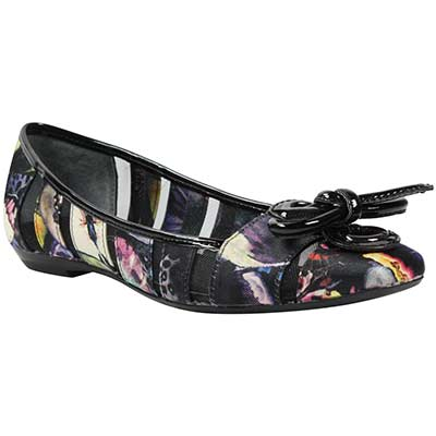 Front view of Edie Black Bright Multi Butterfly