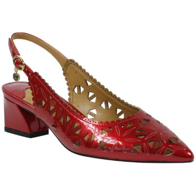 Front view of Eloden RED PEARL PATENT