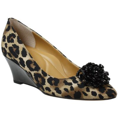 Front view of Eloisa Brown Black Animal Print