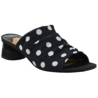 Front view of Banan Black White Polka Dot