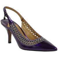 Front view of Naiara PURPLE PEARL PATENT